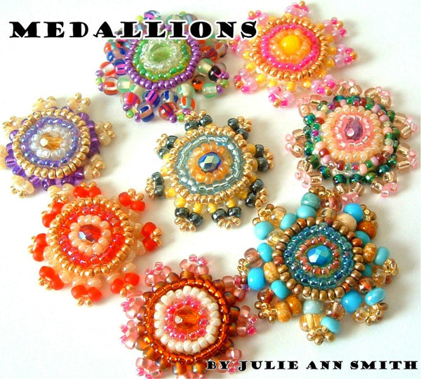 Medallions Bead Crochet And Bead Embroidery Pattern Julie Ann Smith