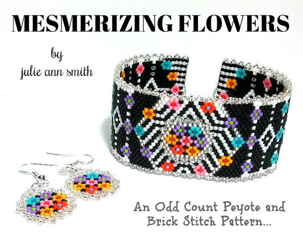 MESMERIZING FLOWERS Bracelet and Earrings Pattern