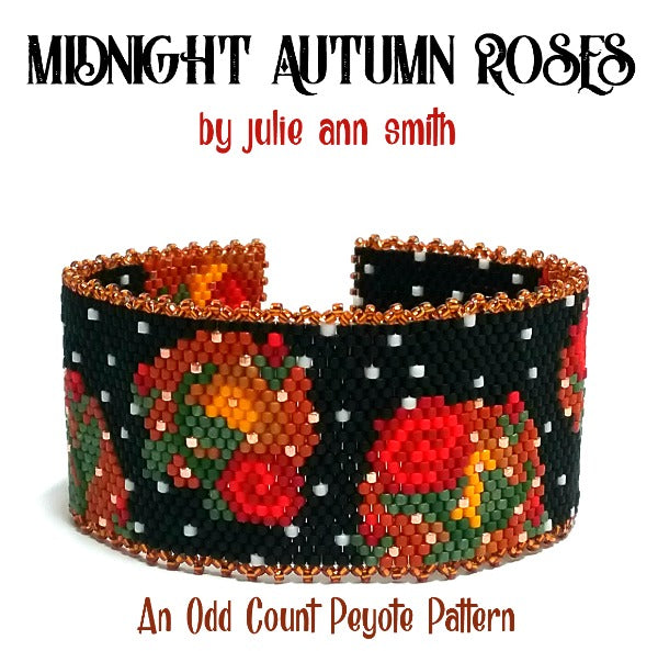MIDNIGHT AUTUMN ROSES Bracelet Pattern