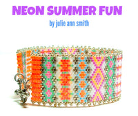 NEON SUMMER FUN Bracelet Pattern