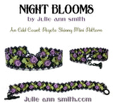 NIGHT BLOOMS Skinny Mini Bracelet Pattern