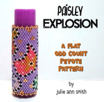 PAISLEY EXPLOSION Lip Balm Cover Pattern