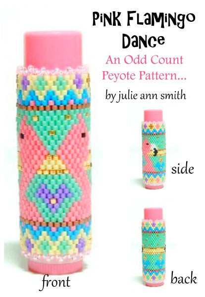 PINK FLAMINGO DANCE Lip Balm Cover Pattern