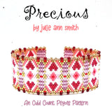 PRECIOUS Bracelet and Brick Stitch Earring Pattern