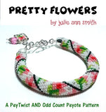 PRETTY FLOWERS Peytwist and Odd Count Peyote Pattern