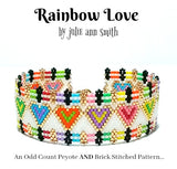 RAINBOW LOVE Bracelet Pattern