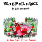 RED BIRDIE DANCE Bracelet Pattern