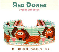 RED DOXIES Bracelet Pattern