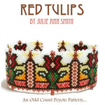 RED TULIPS Bracelet Pattern
