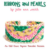 RIBBONS and PEARLS Bracelet Pattern