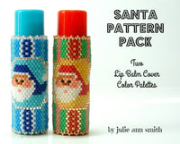 SANTA PATTERN PACK Lip Balm Cover