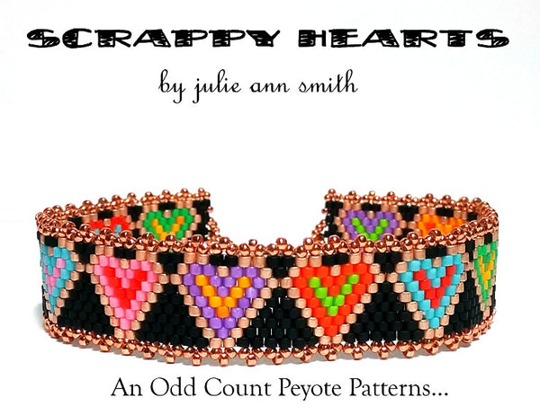SCRAPPY HEARTS Skinny Mini Bracelet Pattern