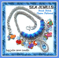 SEA JEWELS Brick Stitch Charms Pattern