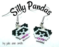 SILLY PANDAS Skinny Mini Bracelet Earring and Pendant Pattern