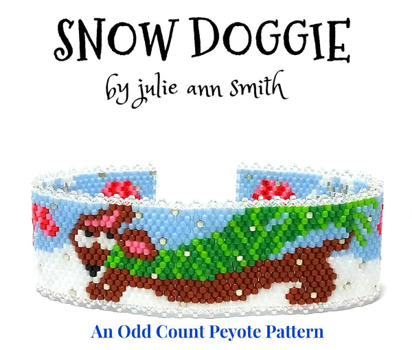 SNOW DOGGIE Bracelet Pattern