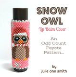 SNOW OWL Lip Balm Cover Pattern