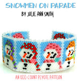 SNOWMEN ON PARADE Bracelet Pattern