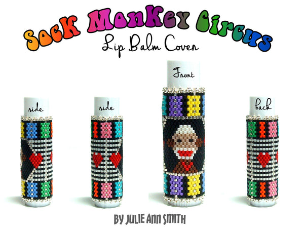 SOCK MONKEY CIRCUS Lip Balm Cover Pattern
