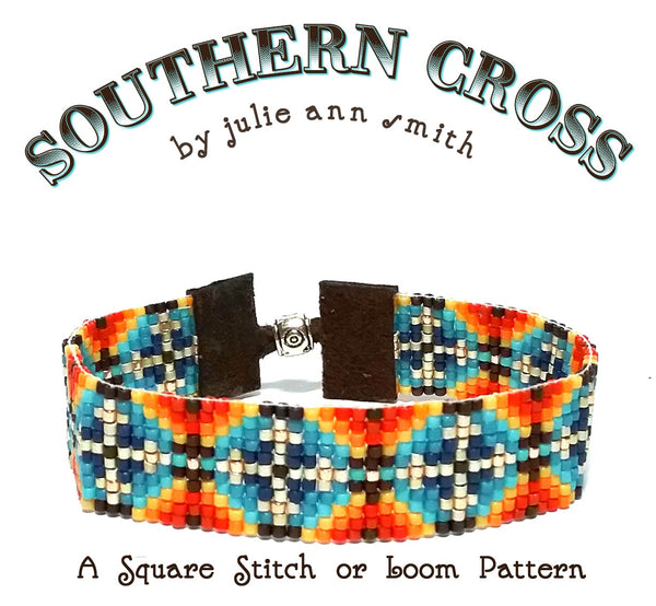 SOUTHERN CROSS Square Stitch or Loom Bracelet Pattern