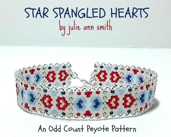 STAR SPANGLED HEARTS Skinny Mini Bracelet Pattern