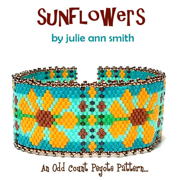 SUNFLOWERS Bracelet Pattern