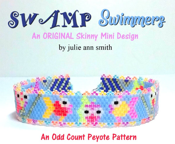 SWAMP SWIMMERS Skinny Mini Bracelet Pattern