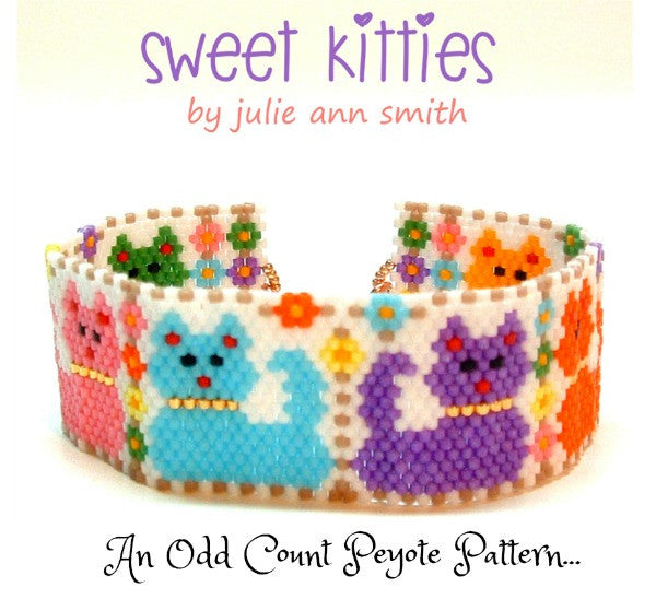 SWEET KITTIES Bracelet Pattern