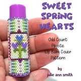 SWEET SPRING HEARTS Lip Balm Cover Pattern