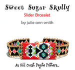 SWEET SUGAR SKULLY Slider Bracelet Pattern