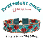 SWEETHEART CHASE Square Stitch or Loom Bracelet Pattern