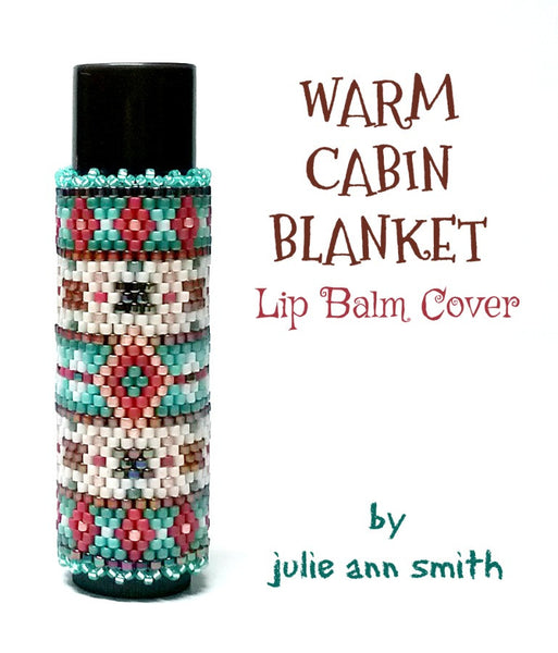 WARM CABIN BLANKET Lip Balm Cover Pattern
