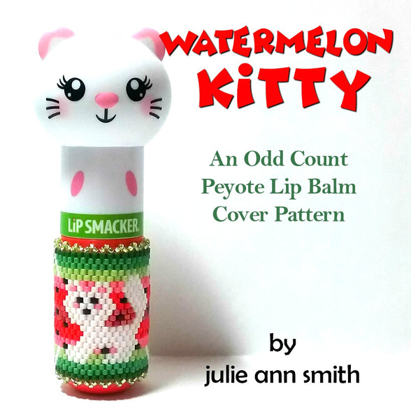 WATERMELON KITTY Lip Balm Cover Pattern
