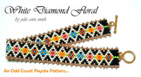 WHITE DIAMOND FLORAL Skinny Mini Bracelet Pattern
