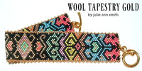 WOOL TAPESTRY GOLD Bracelet Pattern