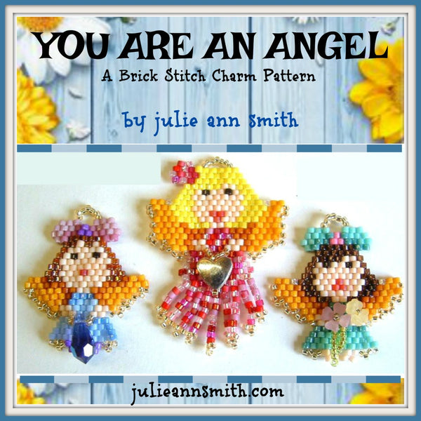 YOU ARE AN ANGEL Brick Stitch Charms Pattern