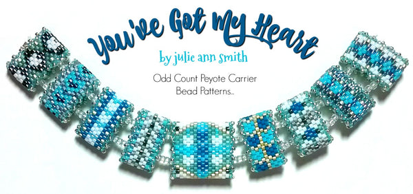 YOU'VE GOT MY HEART Carrier Bead Patterns