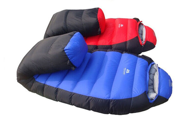 1000g Duck Down Filler Winter Mummy Sleeping Bag