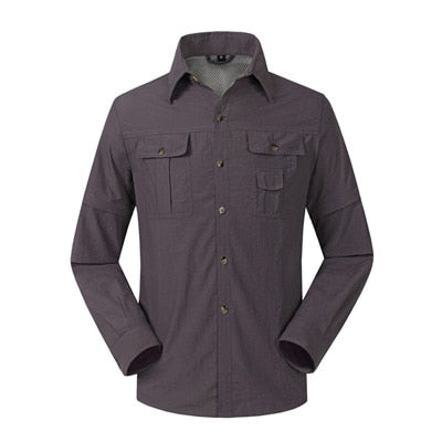 Quick Dry Outdoor Men's Breathable Shirt with Removable Sleeves