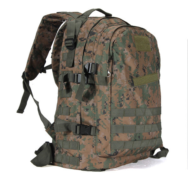 55L Outdoor Sport Military Tactical Backpack Rucksack for Camping Traveling Hiking Trekking