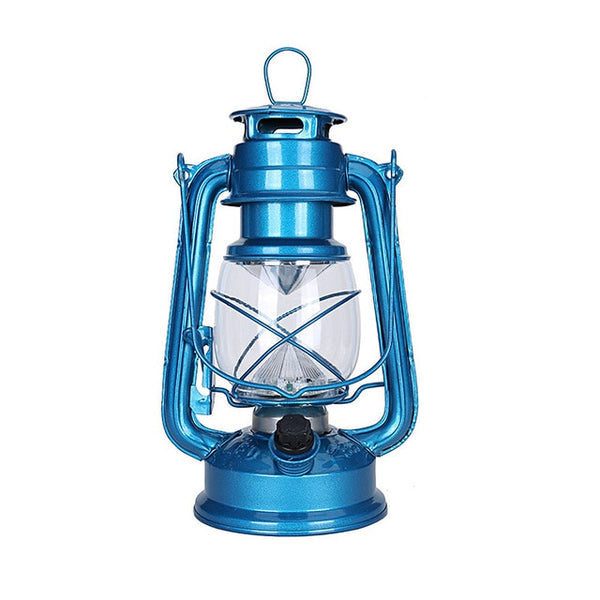 Portable Vintage Kerosene Style Lantern with LED Lamp