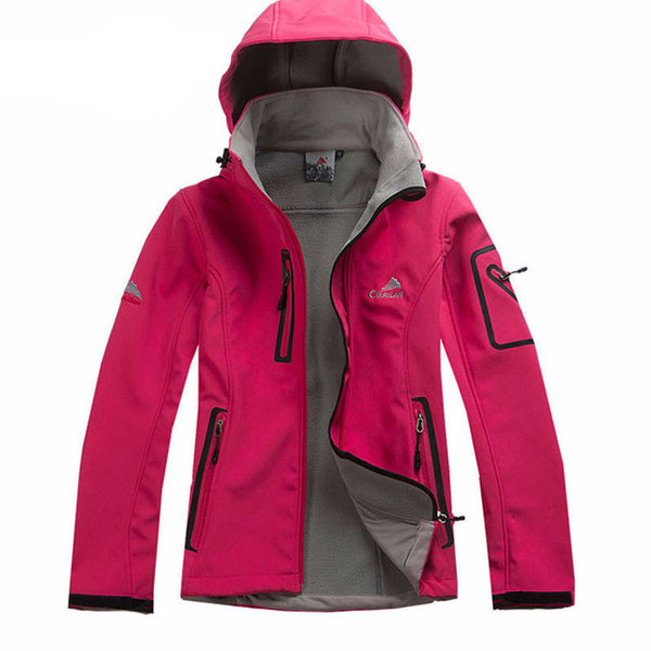 Women's Water Resistant Breathable Softshell Jacket Ladies Outdoor Sports Coats