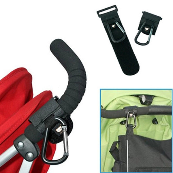 High Quality Baby Stroller Velcro Carabiner Clip Fully Rotatable