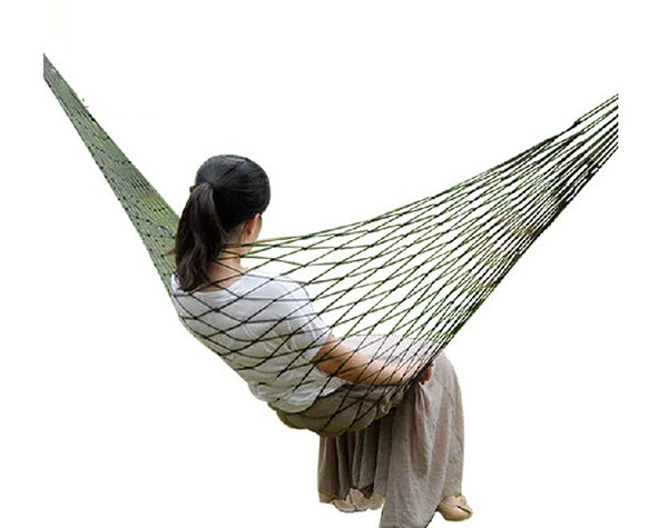 Mesh Hammock Cot with Metal Loops