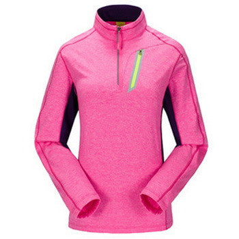 Women Long Sleeve Thermal Quick Dry Outdoor Breathable Sport T Shirt