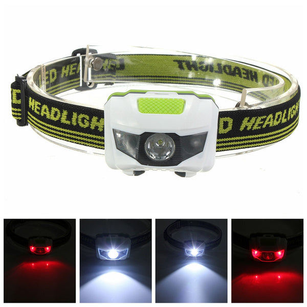 Mini 4 Mode Water Resistant 600Lm CREE R3 2 LED Flashlight Super Bright Headlamp