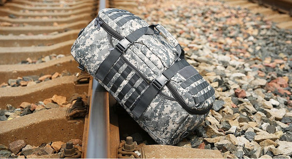 Camouflage Multifunctional 55L Large Capacity Tactical Backpack Handbag Luggage