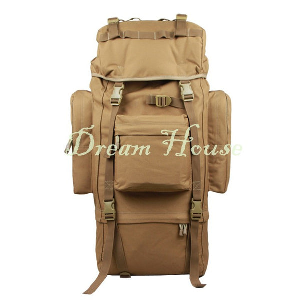 80L Molle Tactical Assault Outdoor Military Rucksack Backpack Camping Bag Large