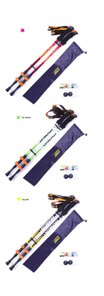 Ultra-light Adjustable Camping Hiking Walking Trekking Carbon Fiber Stick
