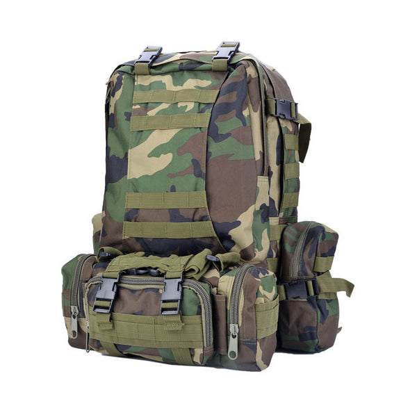 Large Military Style Backpack 40L for Hiking, Camping, Traveling and Day Trekking