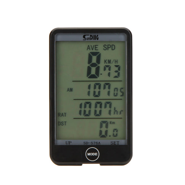 Water-resistant Multifunction Wired Cycling Computer Odometer Speedometer Touch Button LCD Backlit Screen